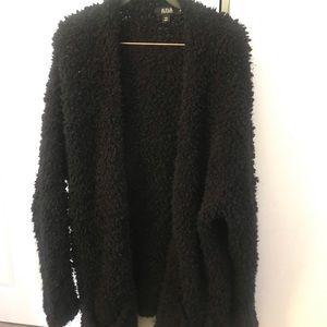 Woman's long cardigan sweater